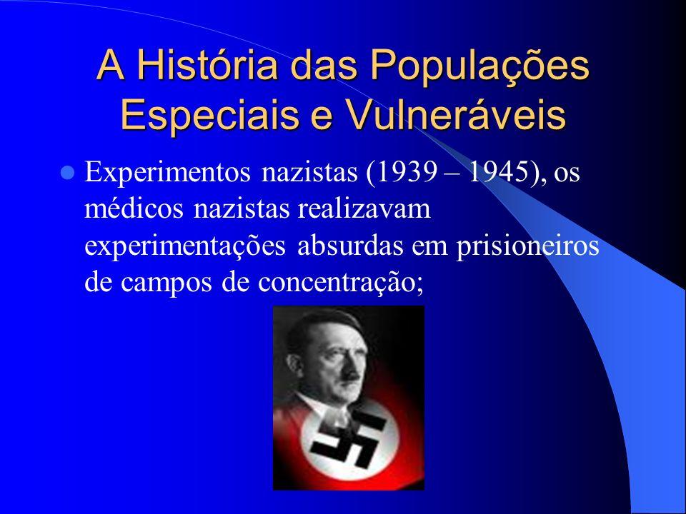 A História das Populações Especiais e Vulneráveis