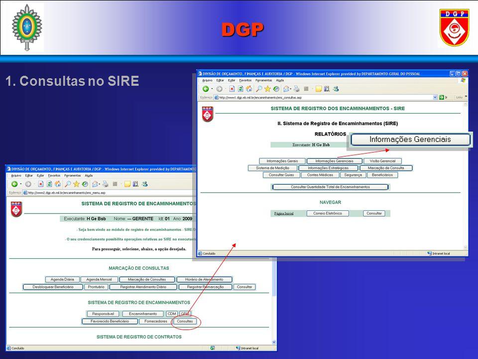 DGP 1. Consultas no SIRE 1 1