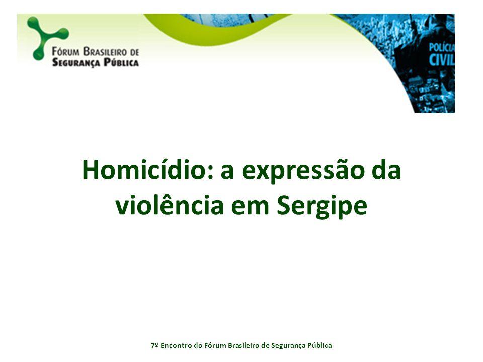 Homicídio: a expressão da violência em Sergipe