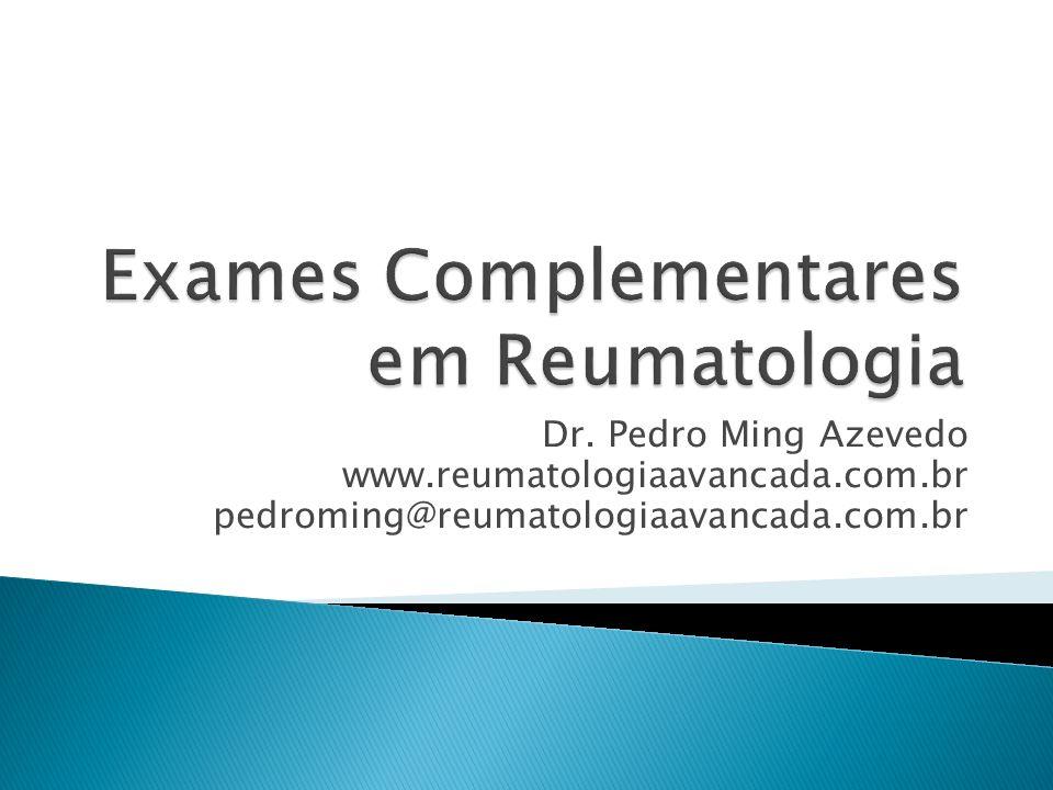Exames laboratoriais reumatologia