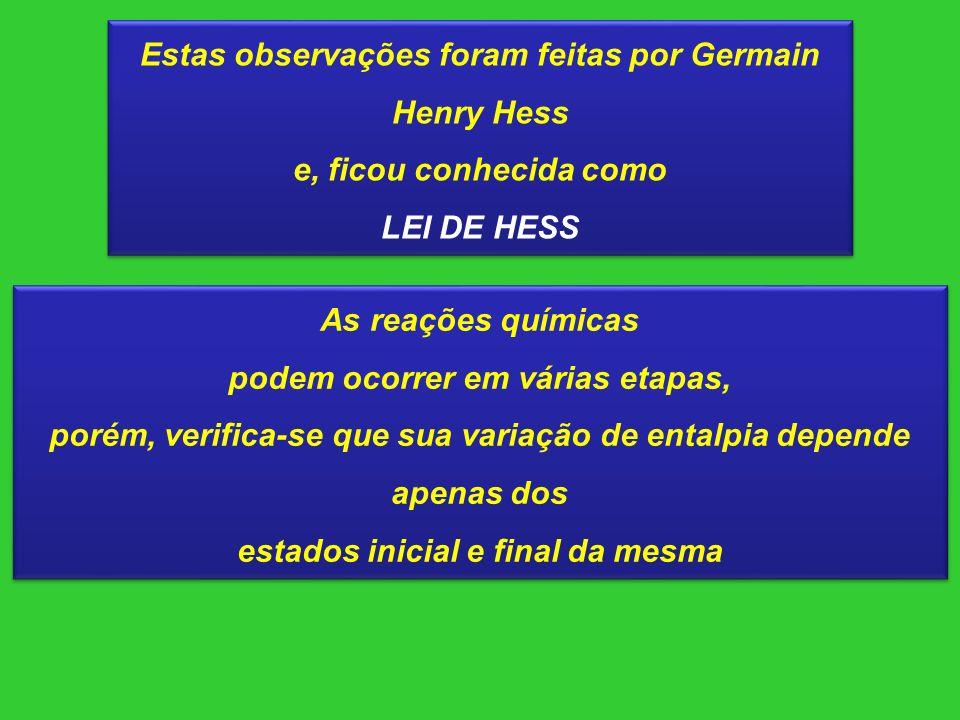 Estas observações foram feitas por Germain Henry Hess