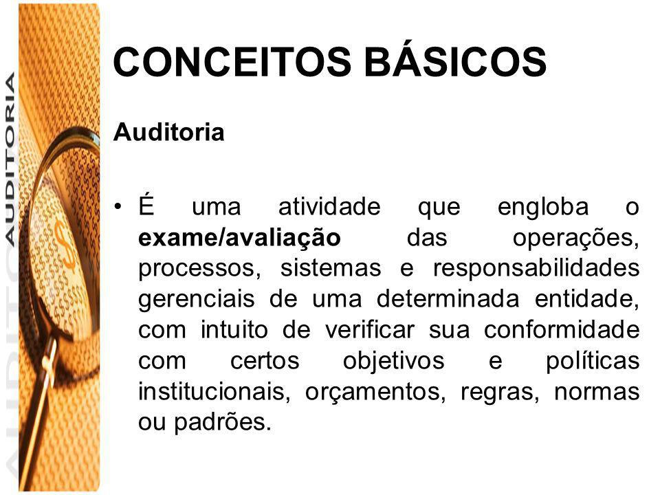 CONCEITOS BÁSICOS Auditoria