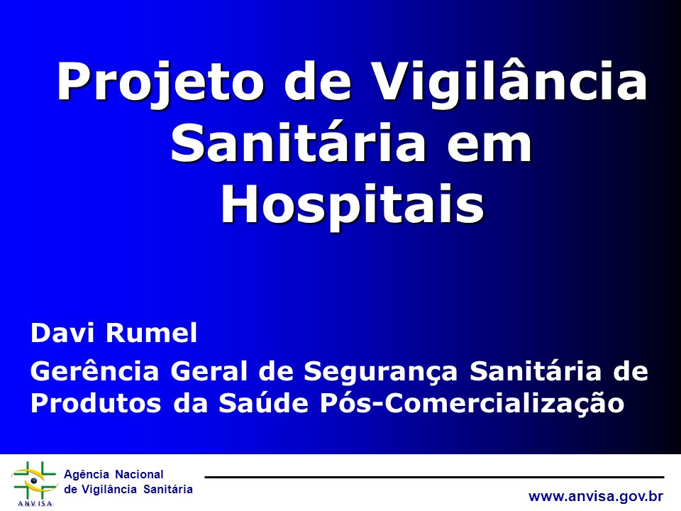 Projeto de Vigilância Sanitária em Hospitais