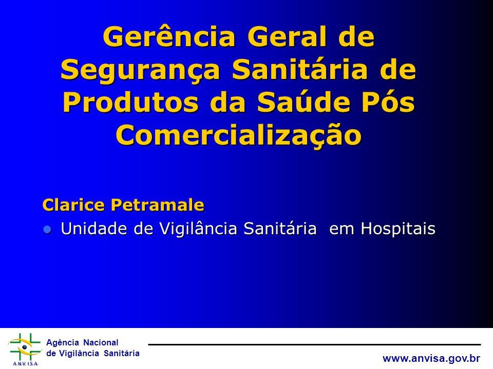 Gerência Geral de Segurança Sanitária de Produtos da Saúde Pós Comercialização