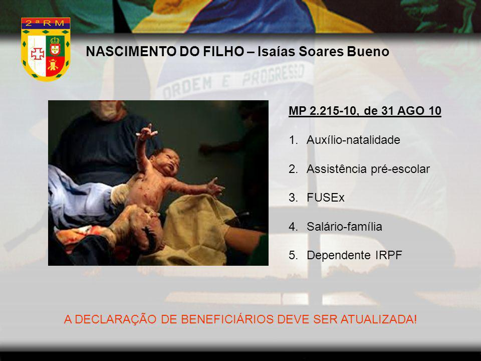 NASCIMENTO DO FILHO – Isaías Soares Bueno