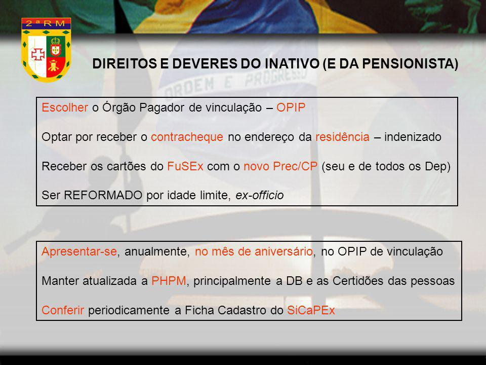 DIREITOS E DEVERES DO INATIVO (E DA PENSIONISTA)