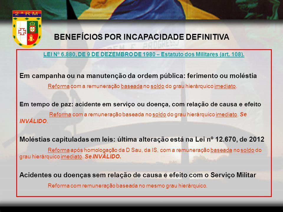 BENEFÍCIOS POR INCAPACIDADE DEFINITIVA