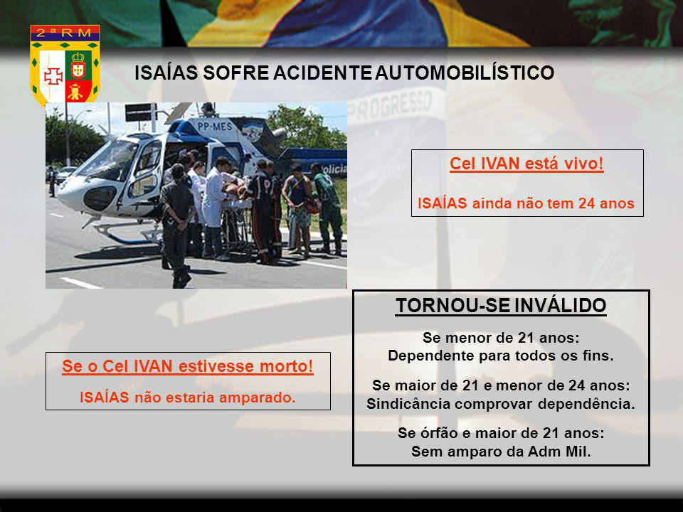 ISAÍAS SOFRE ACIDENTE AUTOMOBILÍSTICO TORNOU-SE INVÁLIDO