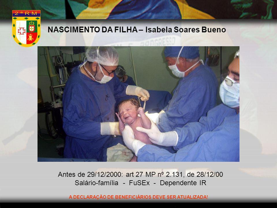 NASCIMENTO DA FILHA – Isabela Soares Bueno