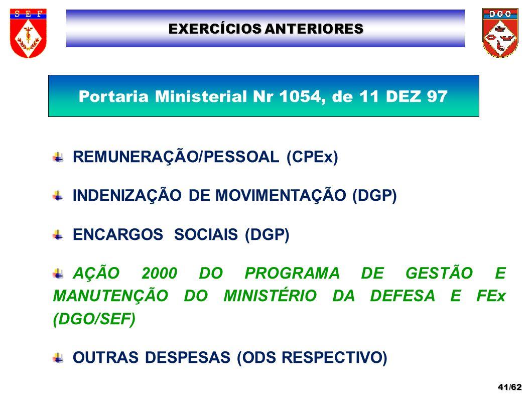 Portaria Ministerial Nr 1054, de 11 DEZ 97