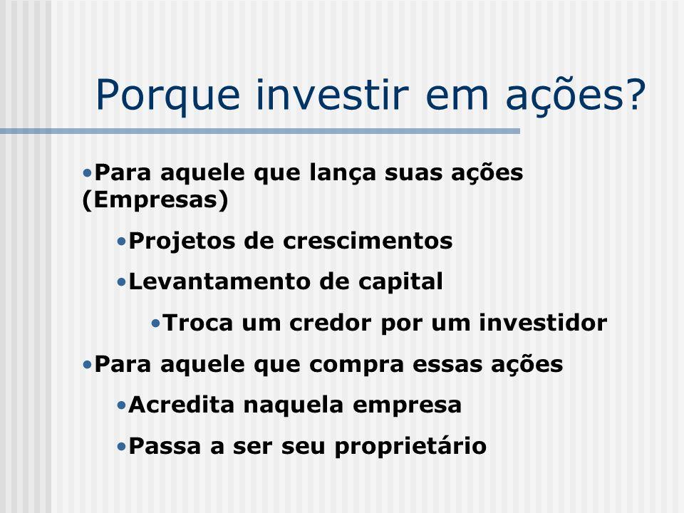 Porque investir em ações