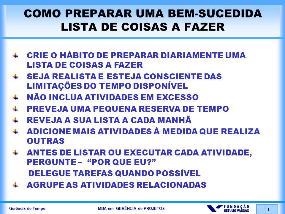 COMO PREPARAR UMA BEM-SUCEDIDA LISTA DE COISAS A FAZER