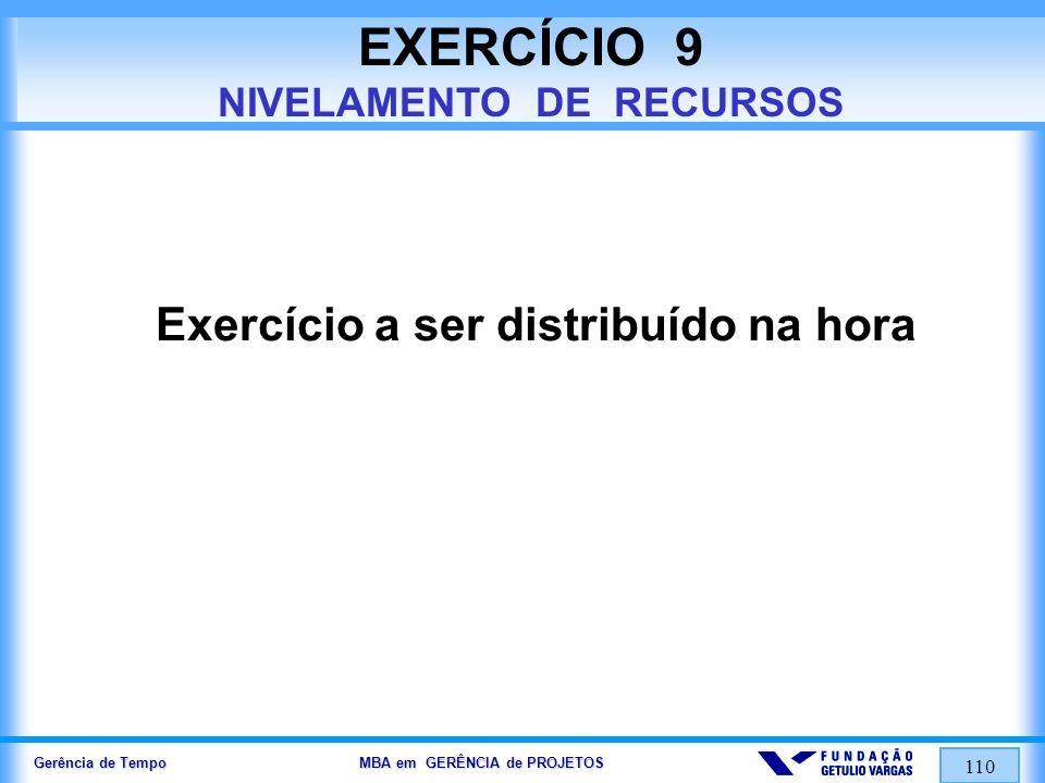 EXERCÍCIO 9 NIVELAMENTO DE RECURSOS