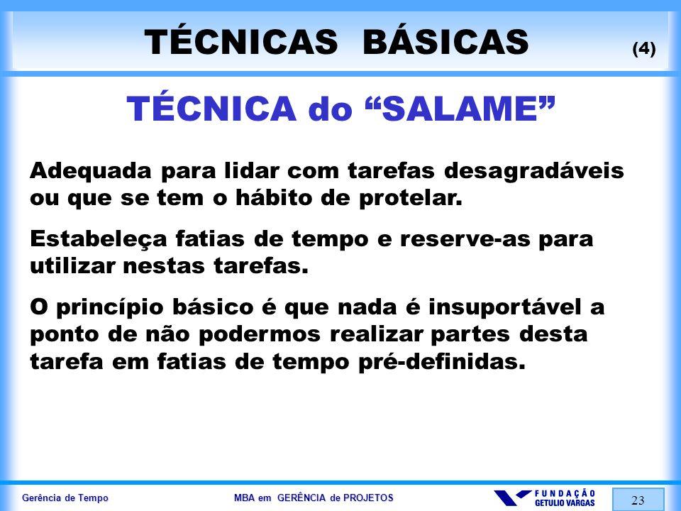 TÉCNICAS BÁSICAS (4) TÉCNICA do SALAME