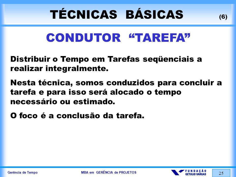 TÉCNICAS BÁSICAS (6) CONDUTOR TAREFA