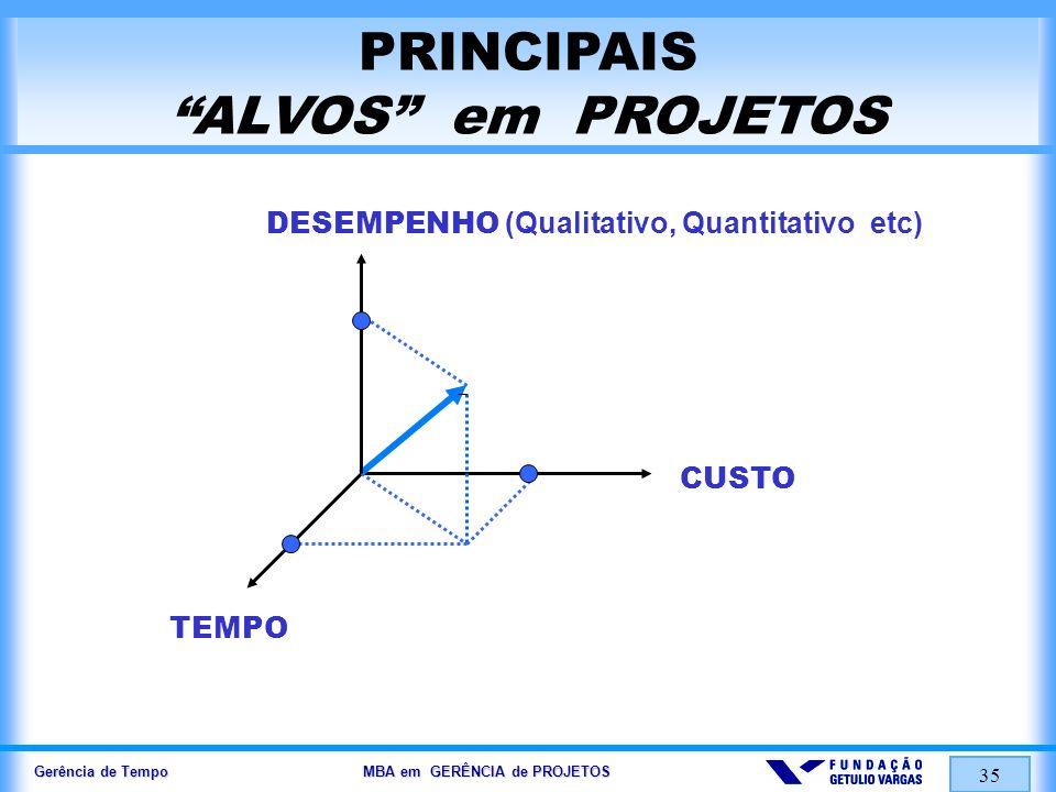 PRINCIPAIS ALVOS em PROJETOS