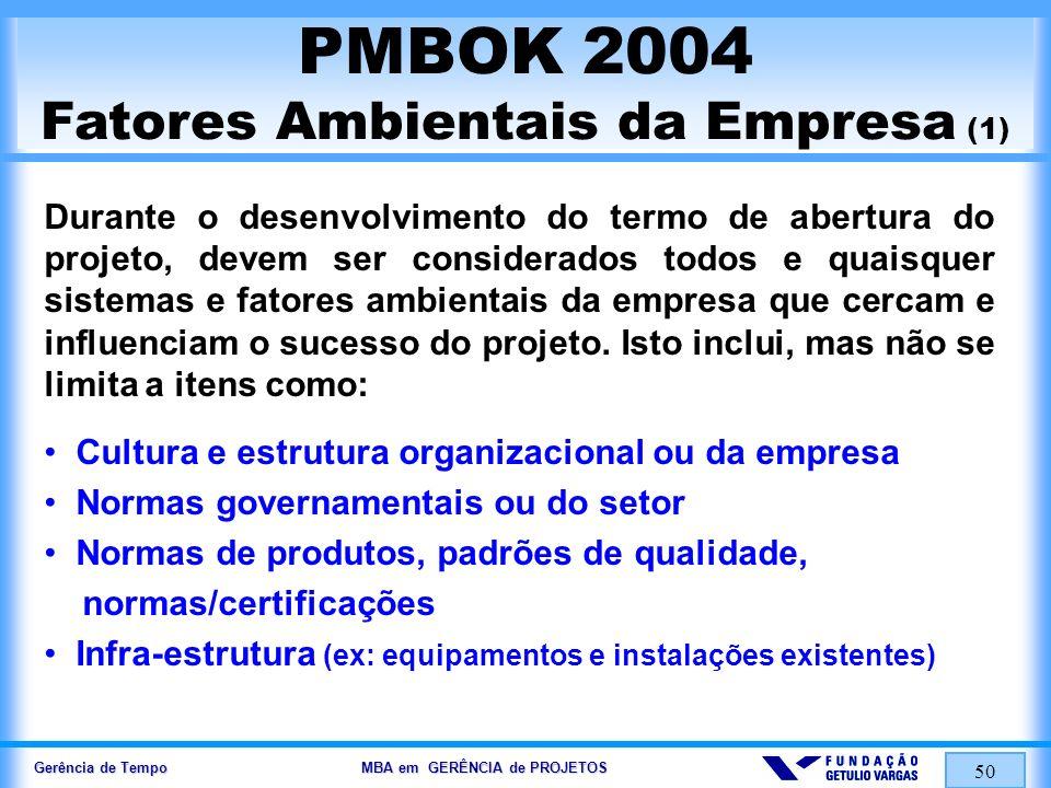 PMBOK 2004 Fatores Ambientais da Empresa (1)