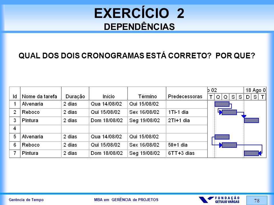 EXERCÍCIO 2 DEPENDÊNCIAS
