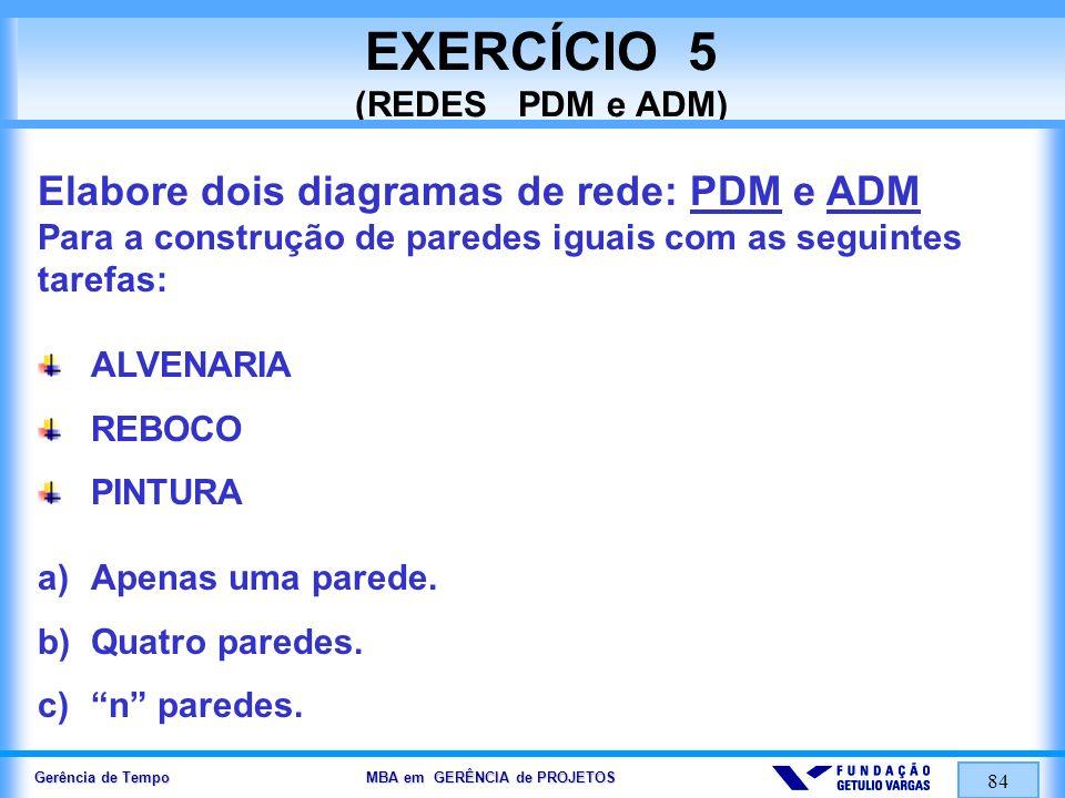EXERCÍCIO 5 (REDES PDM e ADM)