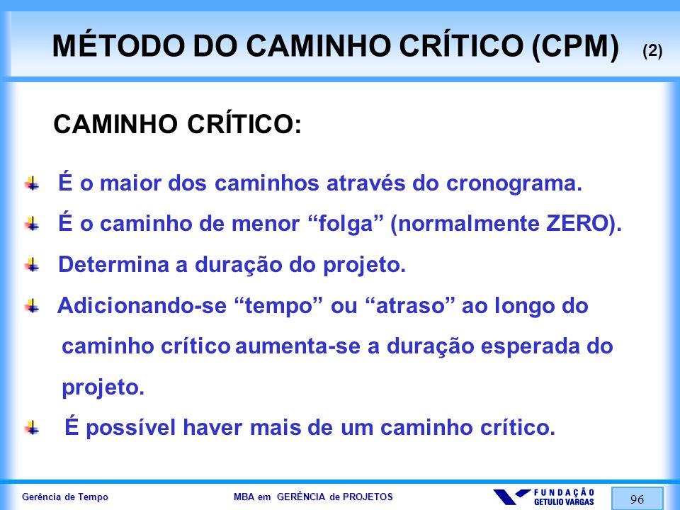 MÉTODO DO CAMINHO CRÍTICO (CPM) (2)