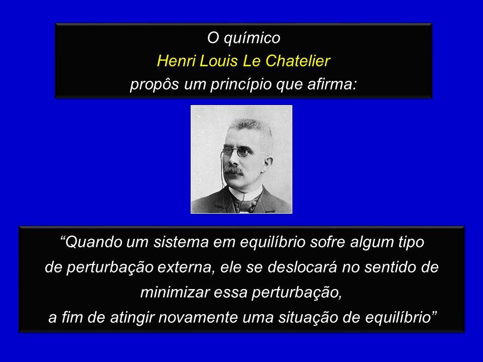 Henri Louis Le Chatelier propôs um princípio que afirma: