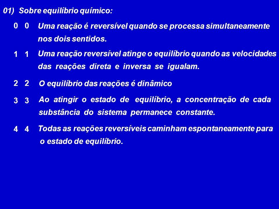 01) Sobre equilíbrio químico: