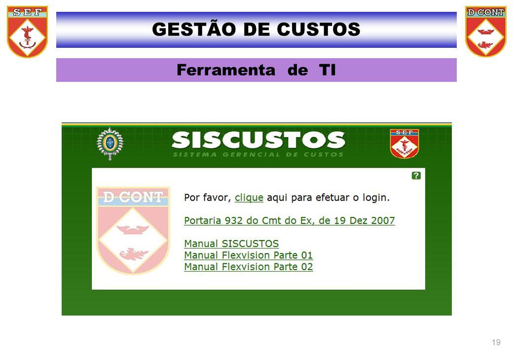 GESTÃO DE CUSTOS Ferramenta de TI 26