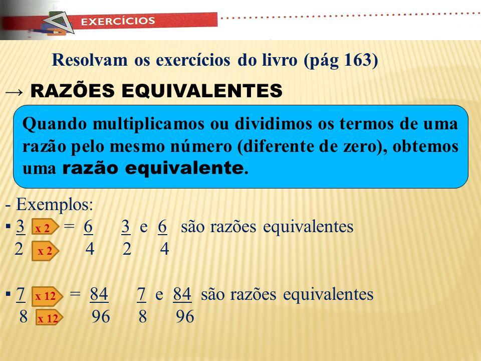 Resolvam os exercícios do livro (pág 163)