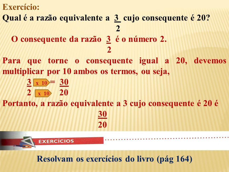 Resolvam os exercícios do livro (pág 164)