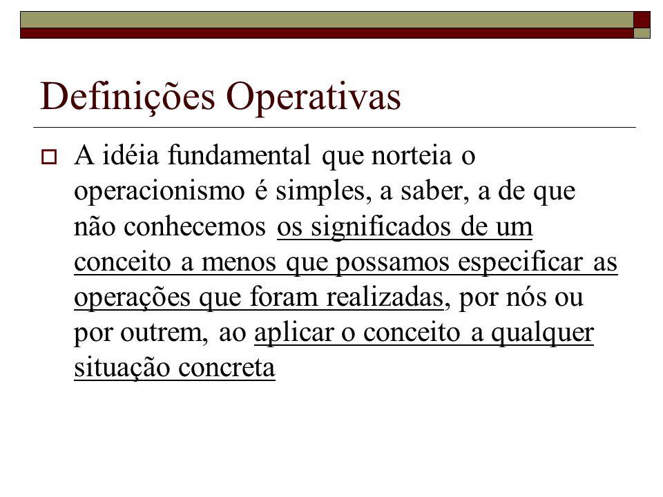 Definições Operativas