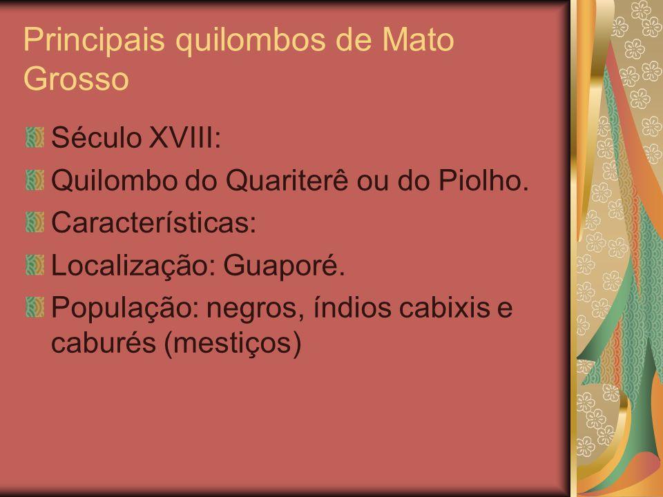 Principais quilombos de Mato Grosso