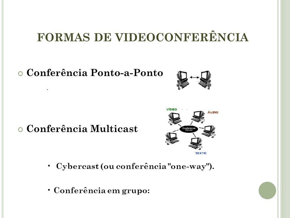FORMAS DE VIDEOCONFERÊNCIA