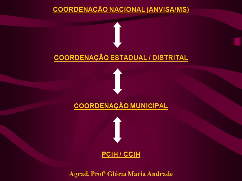COORDENAÇÃO NACIONAL (ANVISA/MS)