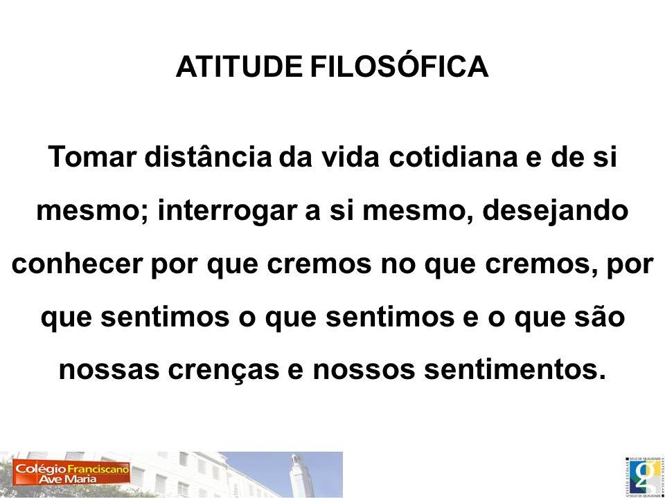 ATITUDE FILOSÓFICA