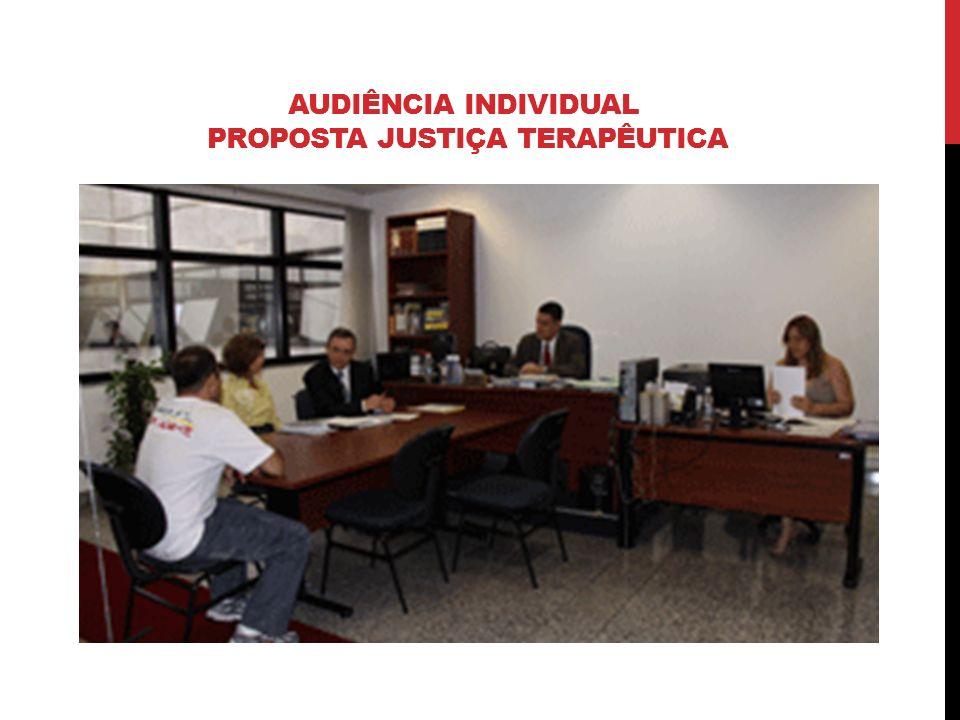 AUDIÊNCIA INDIVIDUAL PROPOSTA JUSTIÇA TERAPÊUTICA