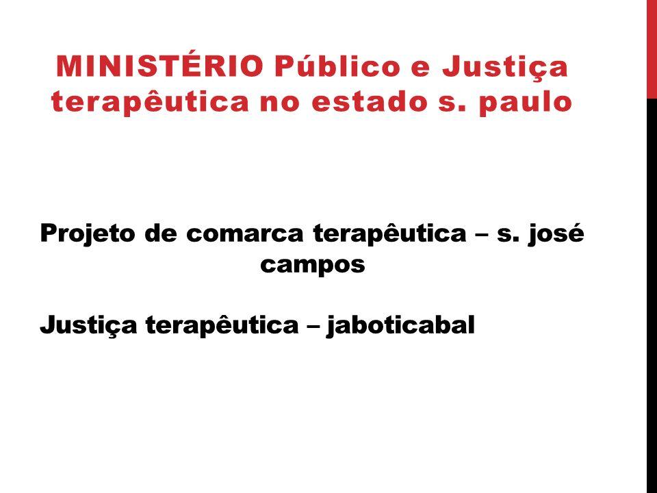 MINISTÉRIO Público e Justiça terapêutica no estado s. paulo