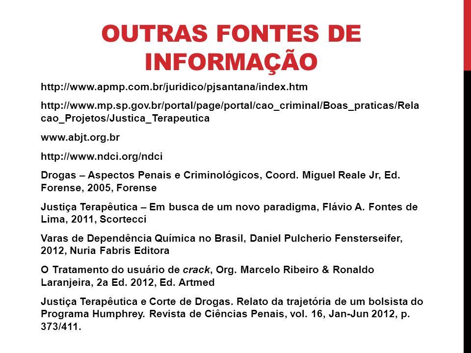 OUTRAS FONTES DE INFORMAÇÃO