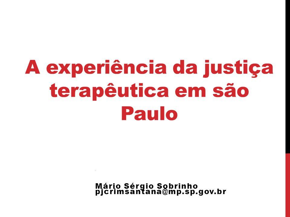 A experiência da justiça terapêutica em são Paulo