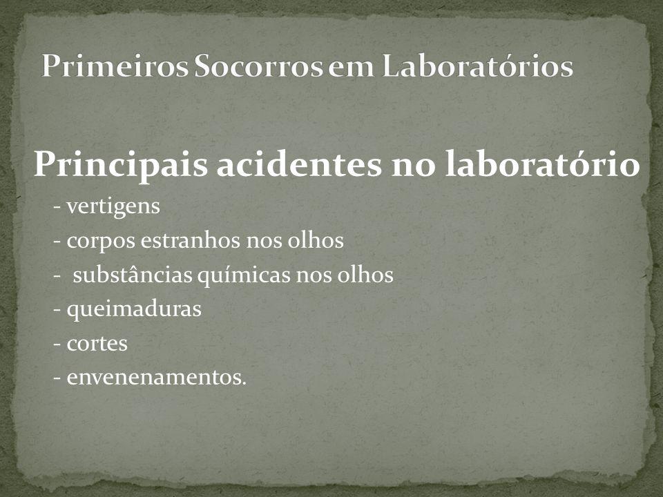 Primeiros Socorros em Laboratórios