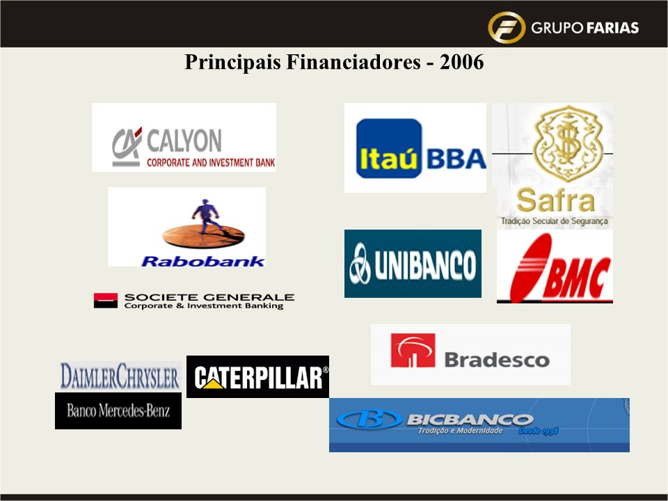 Principais Financiadores - 2006