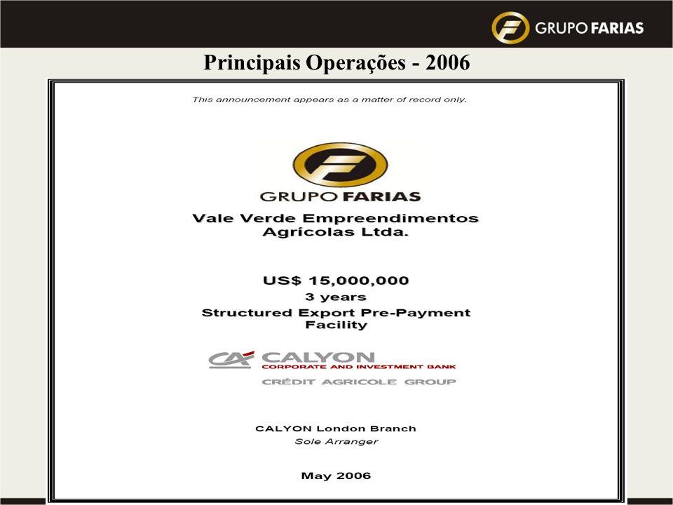 Principais Operações - 2006