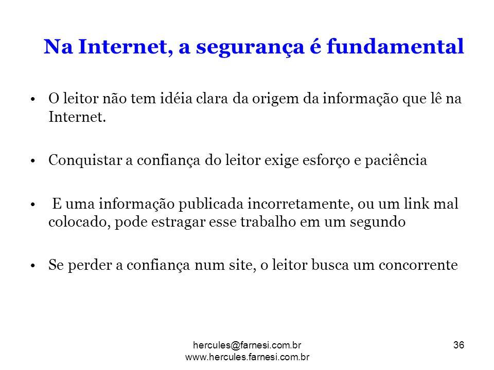 Na Internet, a segurança é fundamental