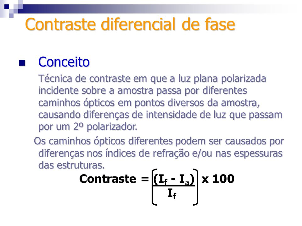 Contraste diferencial de fase