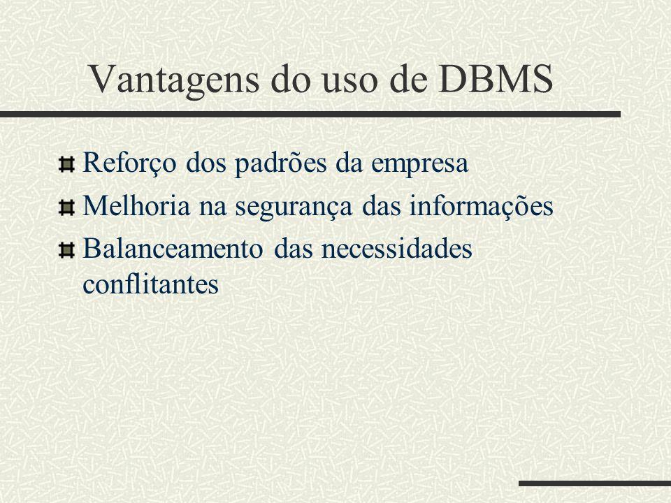 Vantagens do uso de DBMS