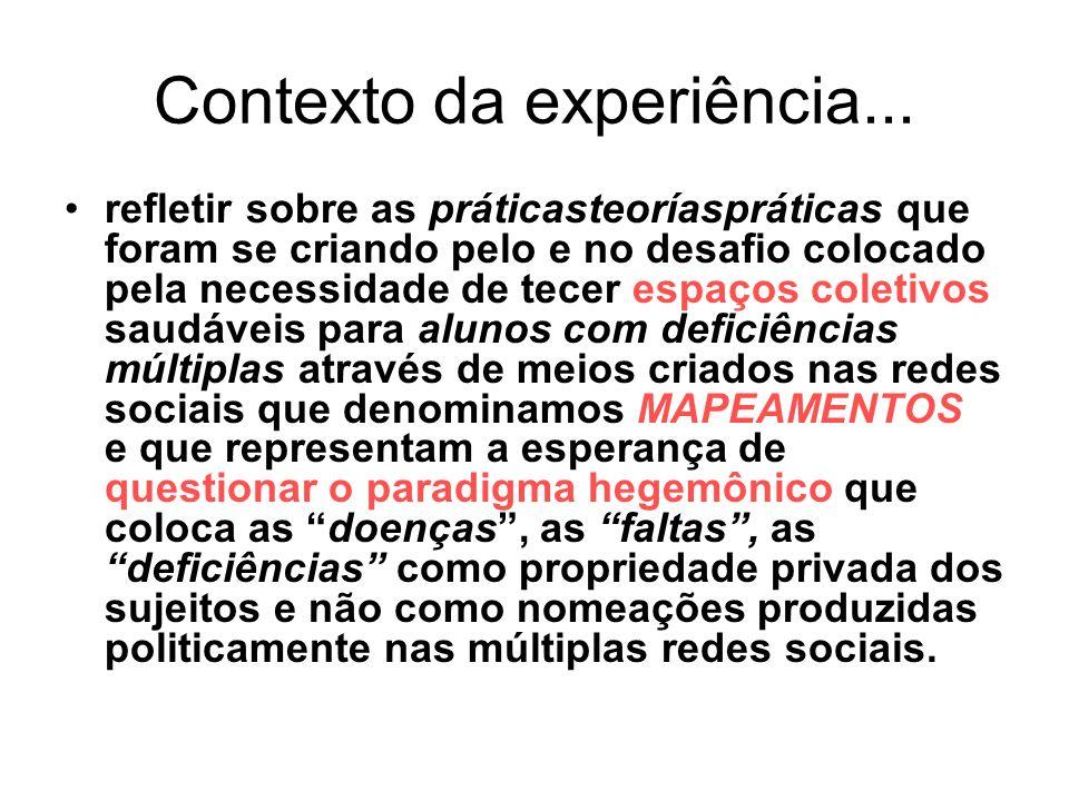 Contexto da experiência...