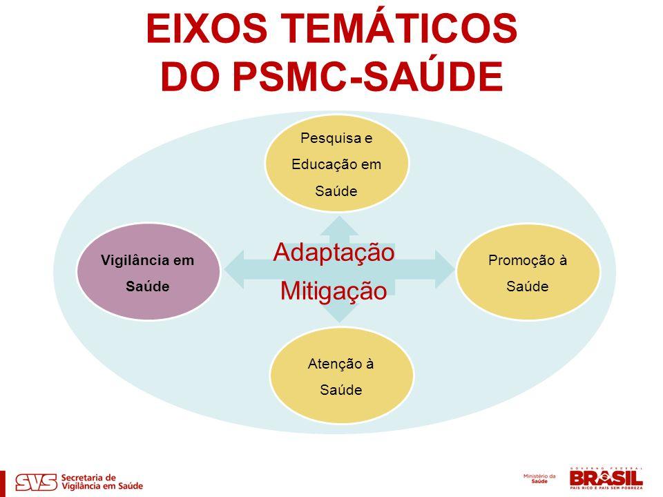 EIXOS TEMÁTICOS DO PSMC-SAÚDE