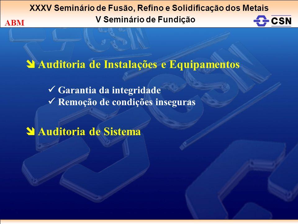  Auditoria de Instalações e Equipamentos