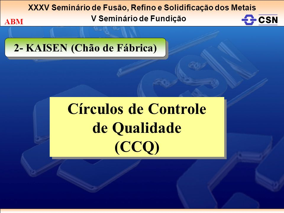 Círculos de Controle de Qualidade (CCQ)