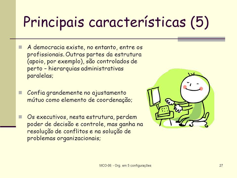 Principais características (5)
