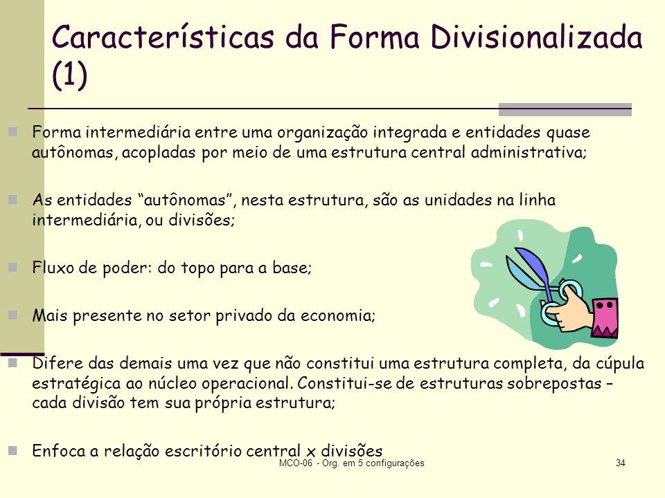 Características da Forma Divisionalizada (1)